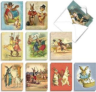 Best The Best Card Company - 20 Bulk Greeting Notecard Set Blank (4 x 5.12 Inch) (10 Designs, 2 Each) - Funny Bunnies AM2345OCB-B2x10 Review