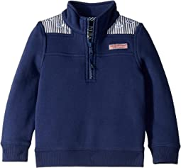 All Over Whale Embroidery Stripe Shep (Toddler/Little Kids/Big Kids)