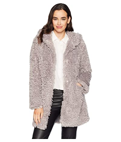 Dylan by True Grit Light Sherpa Fur Chic Hoodie Jacket with Heather Knit Lining (Heather) Women