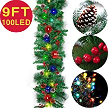 Best battery operated christmas garland outdoor Reviews