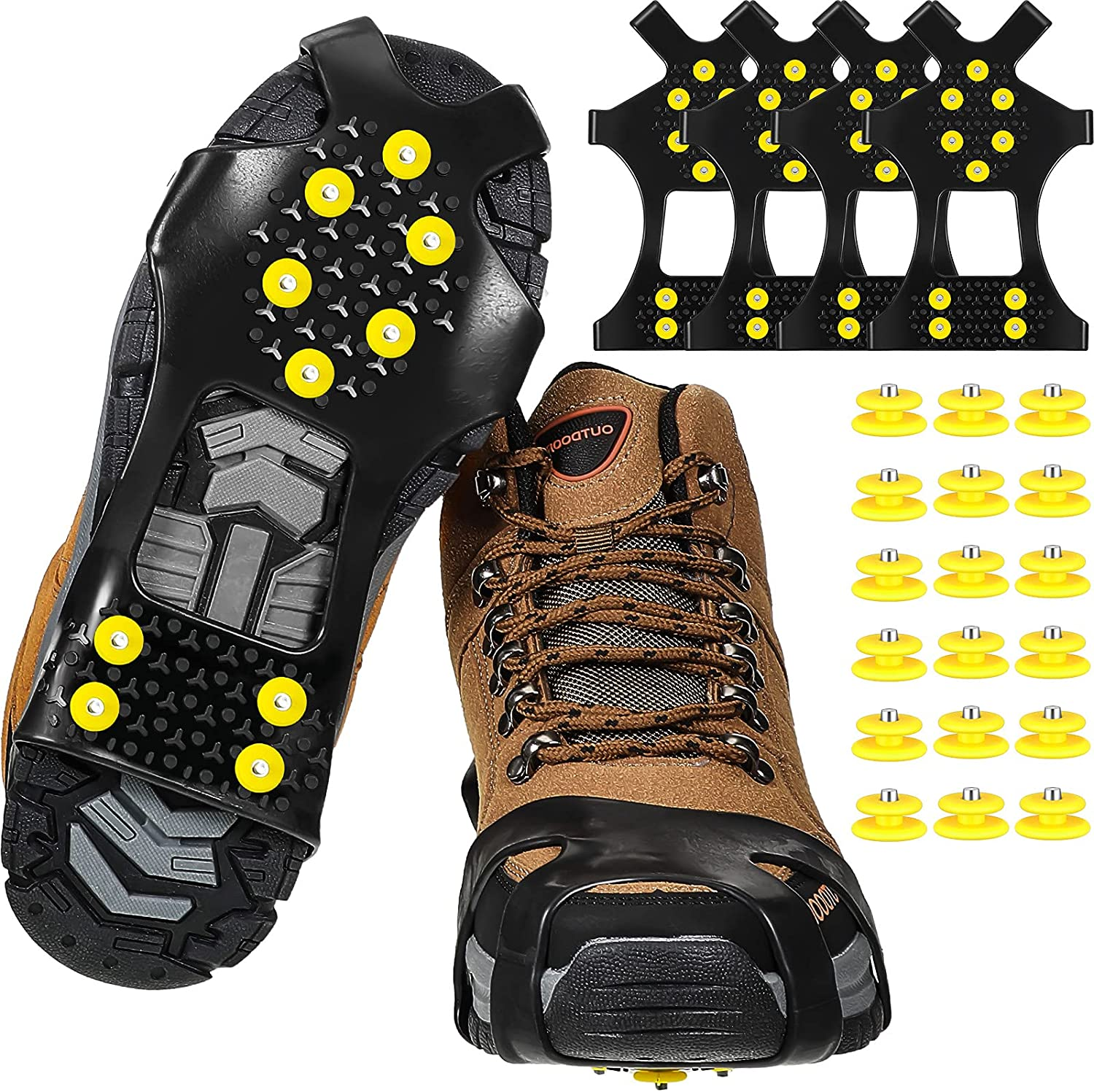 2 Pairs Ice Snow Grippers Max 78% OFF Cleats Max 56% OFF Traction Crampons Anti-Slip