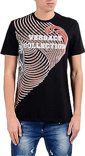 Collection Men's Black Graphic Short Sleeve Crewneck T-Shirt Size US XL IT 54