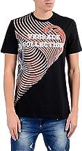Versace Collection Men's Black Graphic Short Sleeve Crewneck T-Shirt Size US XL IT 54