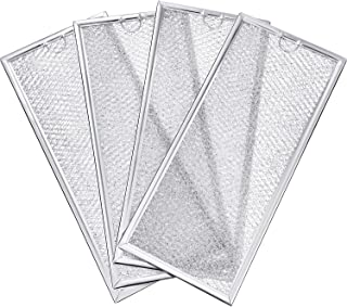 Jetec 4 Packs WB06X10596 Microwave Grease Filter Compatible with Compatible with GE LG Replace 5230W1A011A 5230W1A011C JX81H WB02X11544 WB2X10956(13-3/8 x 5-7/8 x 5/32 inch/ 34 x 14.92 x 0.4 cm)