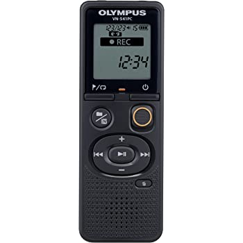 Olympus VN-541PC Voice Recorder with 4GBM, PC Link, One-touch Recording, Black, Model:VN-541PC Black