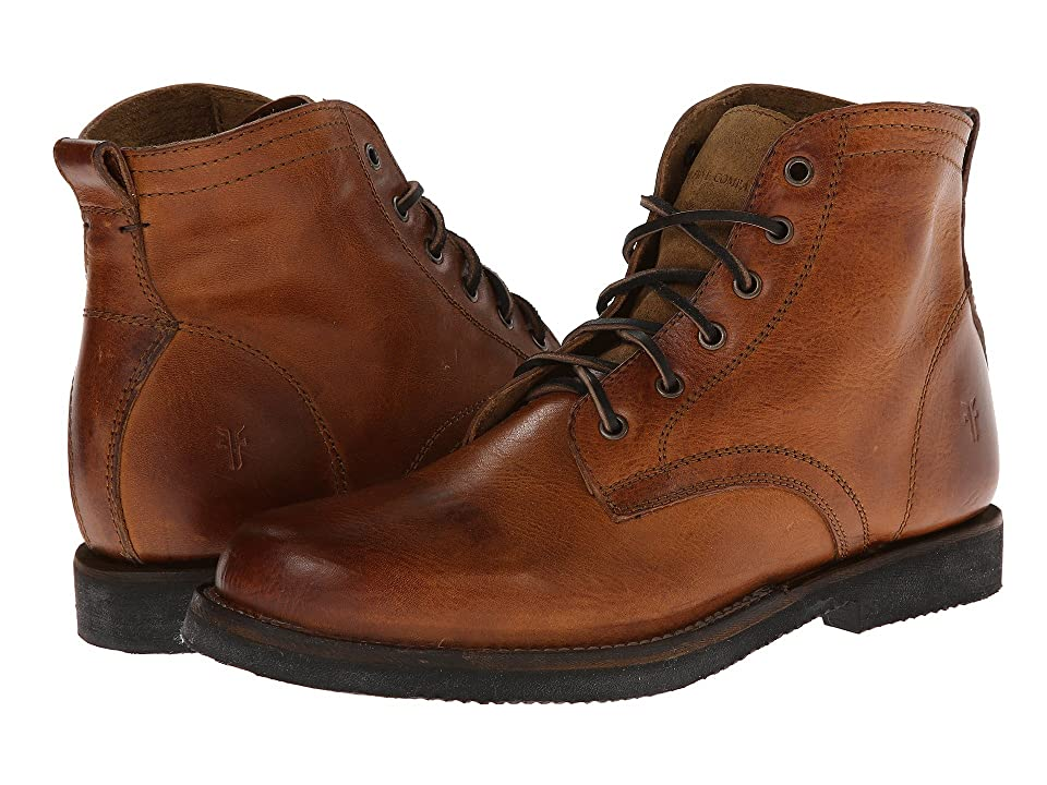 Frye Roland Lace Up (Camel Antique) Men