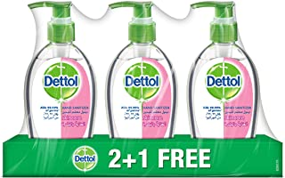 Dettol Skincare Anti-Bacterial Liquid Hand Wash 200ml 2+1 Free