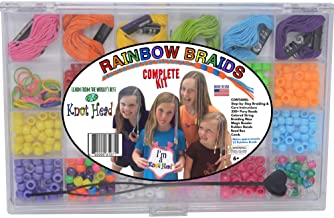 Rainbow Braid Hair Braiding Kit Complete Hair Styling Instructions Hair Beading Kit