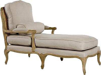 Zentique Bastille Chasie Lounge, Natural Oak/Linen