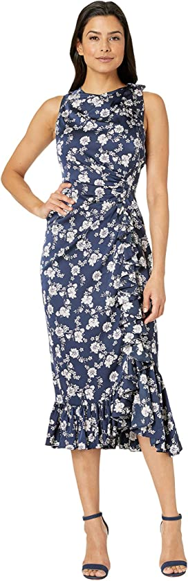 d6a7ca3601a Maggy London 30s Crepe Cascade Ruffle Front Dress at Zappos.com