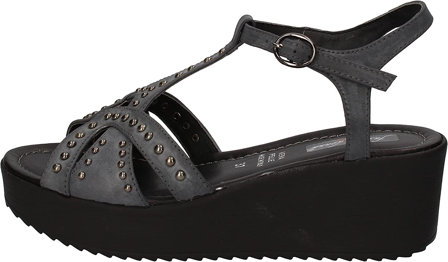 FASCINO women Sandals Womens Leather Grey
