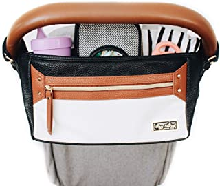 Itzy Ritzy Adjustable Stroller Caddy, Coffee and Cream