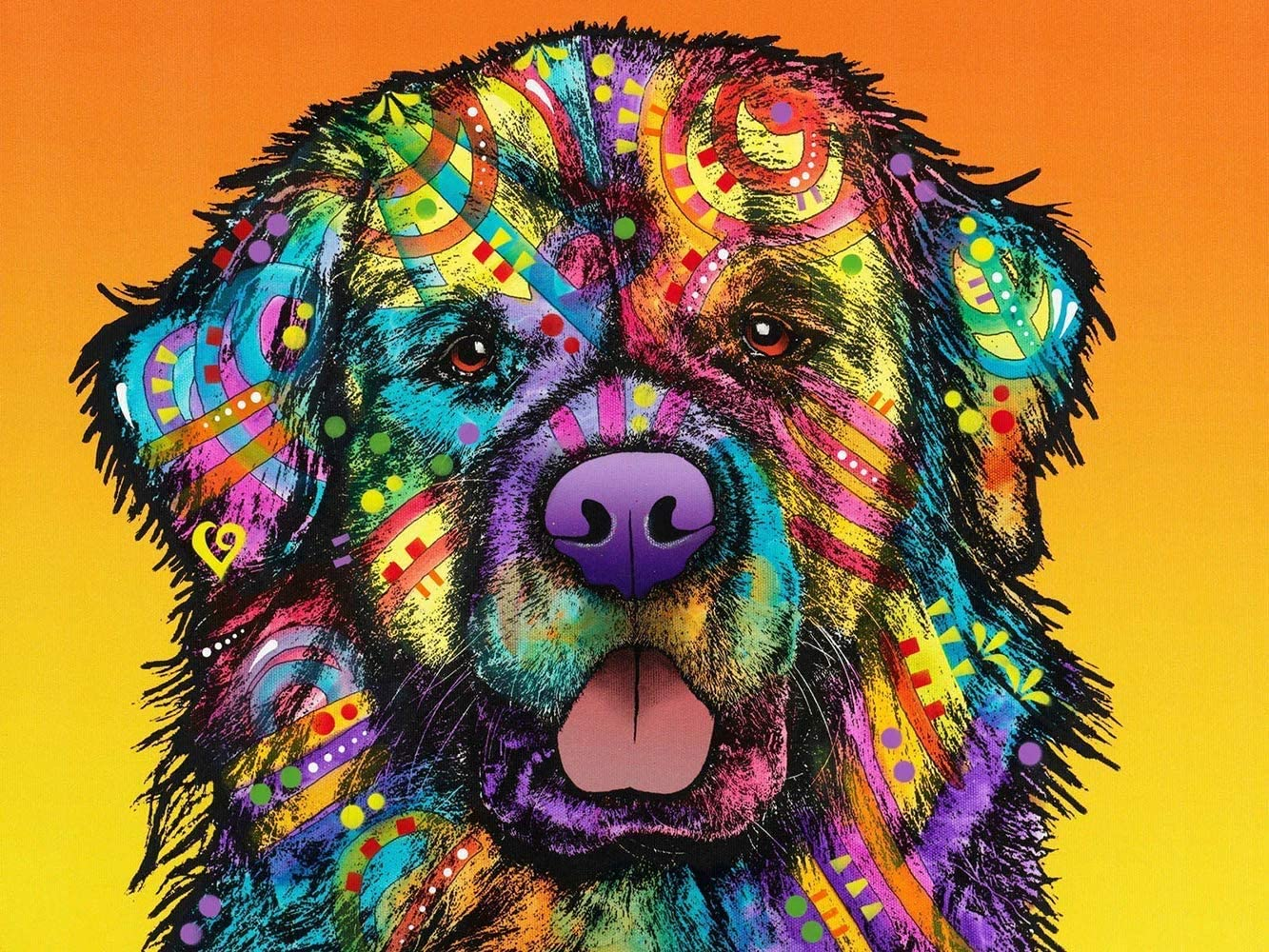 DIY 5D Diamond Painting by Number Kits,Crystal Rhinestone Diamond Embroidery Paintings for Adults and Beginner Diamond Arts Craft Home Decor Newfoundland Dog (12x8in)