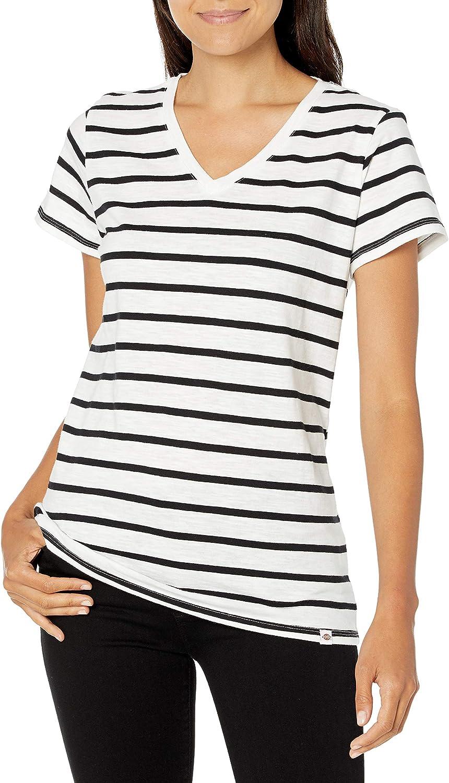 Dickies Women's Short Sleeve V-Neck T-Shirt