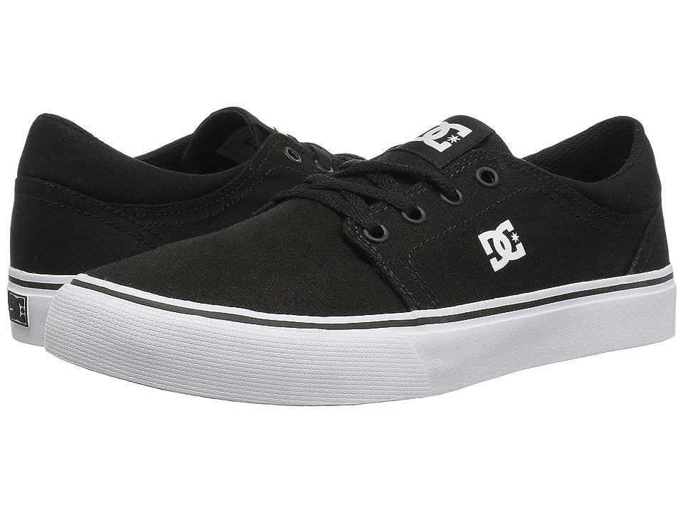 DC Kids Trase TX (Little Kid/Big Kid) (Black/White) Kids Shoes