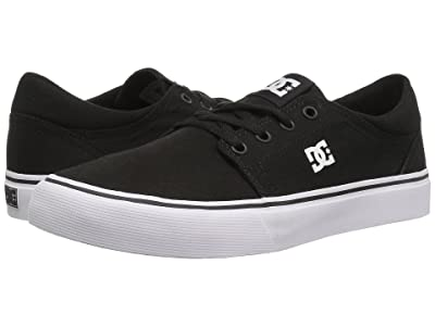 DC Kids Trase TX (Little Kid/Big Kid) (Black/White) Kids Shoes