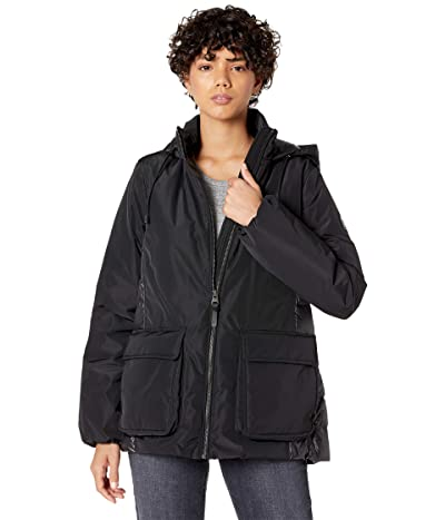 MACKAGE Cici Light Down A-Line Puffer Coat (Black) Women