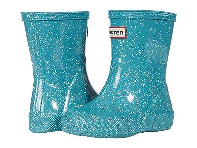 Hunter Kids Original First Classic Giant Glitter Wellington Boots (Toddler/Little Kid) (Blue Spruce) Kid