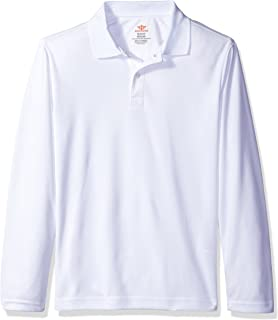 Dockers Boys' Uniform Long Sleeve Moisture-Wick Polo