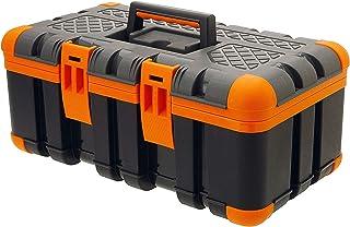 Oramics Gereedschapskoffer, 50 x 30 x 24 cm, gereedschapskist met rubberen hoeken voor de perfecte stand en schokbestendig...