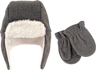 Baby Girls' Fleece Trapper Hat and Mitten Set