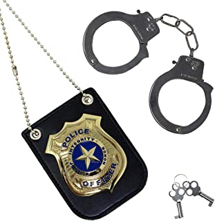 Spooktacular Creations Police Pretend Play Toy Set for School Classroom Dress Up Pretend Play, Detective Role Play Accesso...