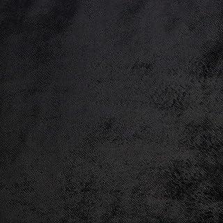 McAlister Textiles Shiny Velvet 8x4 Fabric Sample Swatch   Dark Black
