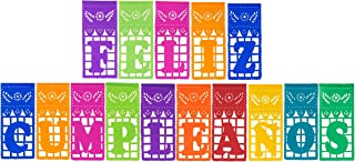 Paper Full of Wishes I Mexican Tissue Papel Picado Banner I Feliz Cumpleaños I Multi-Color Large Letrero Banner for Mexican Theme Birthdaysby Paper Full of Wishes