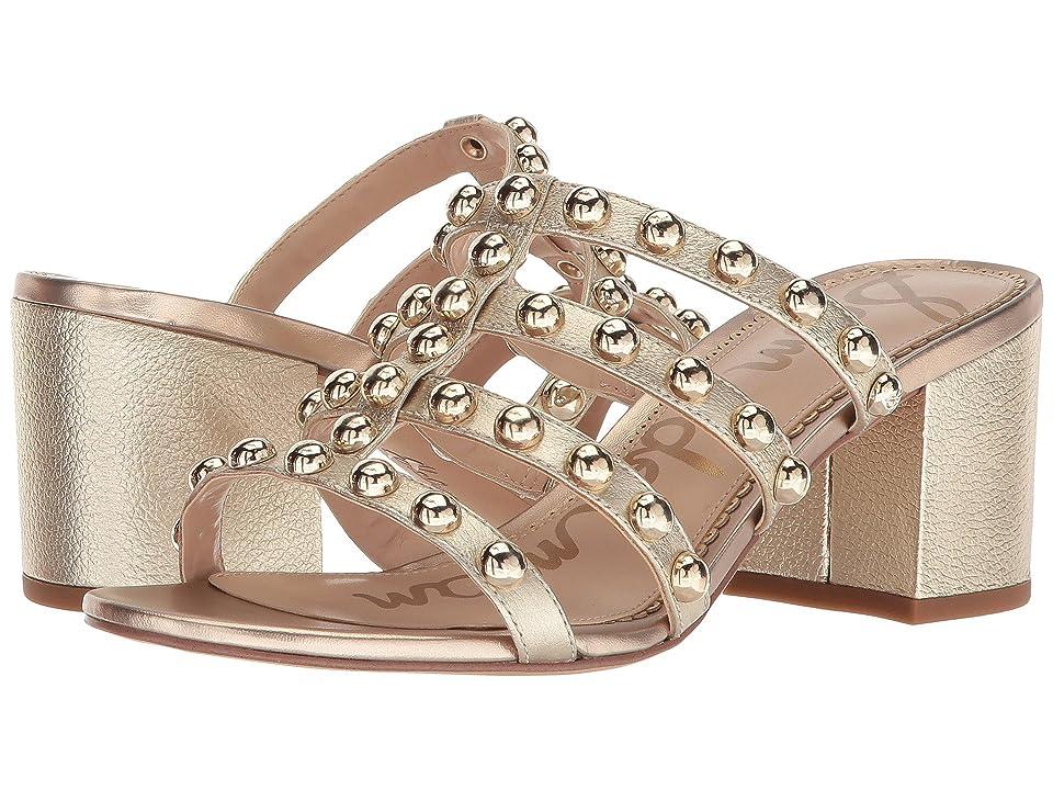 Sam Edelman Suri (Molten Gold Tumbled Opal Metallic Leather) Women's Sandals