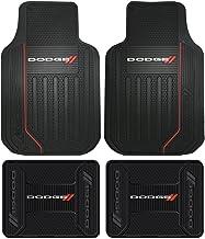 Nylon Carpet Coverking Custom Fit Front and Rear Floor Mats for Select Dodge Avenger Models CFMBX1DG7434 Black