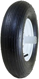 "Marathon 4.80/4.00-8"" Pneumatic (Air Filled) Tire on Wheel, 6"" Hub, 5/8"" Bearings, Ribbed Tread"
