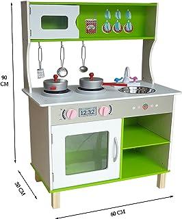 comprar comparacion Kiddi Style Cocina Madera Infantil – Cocina Juguete Niños Grande Moderna