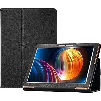 Transwon Case for Dragon Touch K10/ Max10, ZONKO K105 10.1 Inch Tablet, HOOZO 10, Winsing 10 Inch Tablet, Lectrus LECT-TAB1011, Tabtrust 10.1, Victbing 10, FLYINGTECH 10.1, Veidoo 10.1 - Black