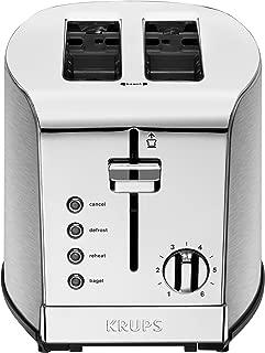 KRUPS KH732D50 Toaster, 2-Slice, Stainless Steel (Renewed)