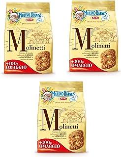 Lot de 3 moulins italiens Biscuits Cookies Blanc 700 g