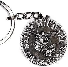 st michael keychain