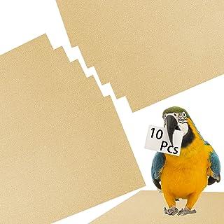 Alpurple 10 PCS Penn Plax Calcium Plus Gravel Paper-16.5x11 Inch Gravel Paper Special for Bird Cage in sea Sand