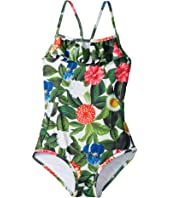 Oscar de la Renta Childrenswear - Flower Jungle Ruffle Swimsuit (Toddler/Little Kids/Big Kids)