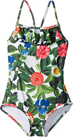 Flower Jungle Ruffle Swimsuit (Toddler/Little Kids/Big Kids)