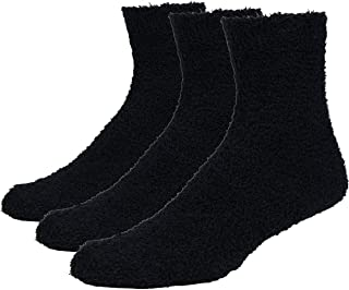 Men's Soft Warm Cozy Fuzzy Socks 3-pack With Gift Box