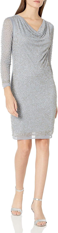 Marina Women's Short Beaded Cocktail Dress