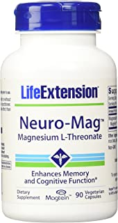 Life Extension - Neuro-Mag, Magnesium L-Threonate Dietary Supplement 90 capsules