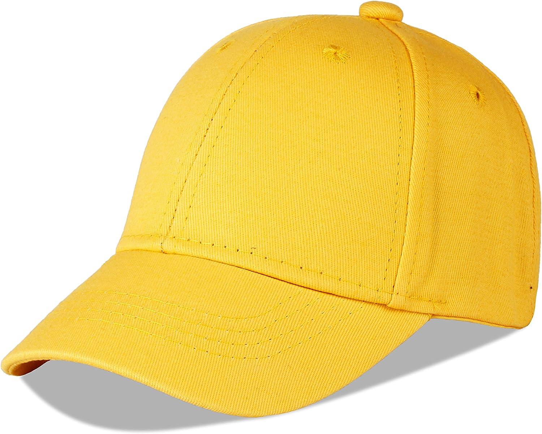LANGZHEN Cotton Outdoor Children's Kids Plain Baseball Cap Hat Adjustable Sun Hat for Toddler Girls Boys: Clothing
