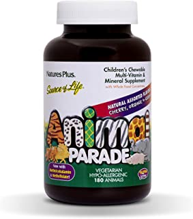Sponsored Ad - NaturesPlus Animal Parade Source of Life Children's Chewable Multivitamin - 180 Animal Shaped Tablets - Nat...