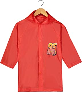 Disney Pixar Cars Little Boys' Lightning McQueen Waterproof Outwear Hooded Rain Slicker - Toddler