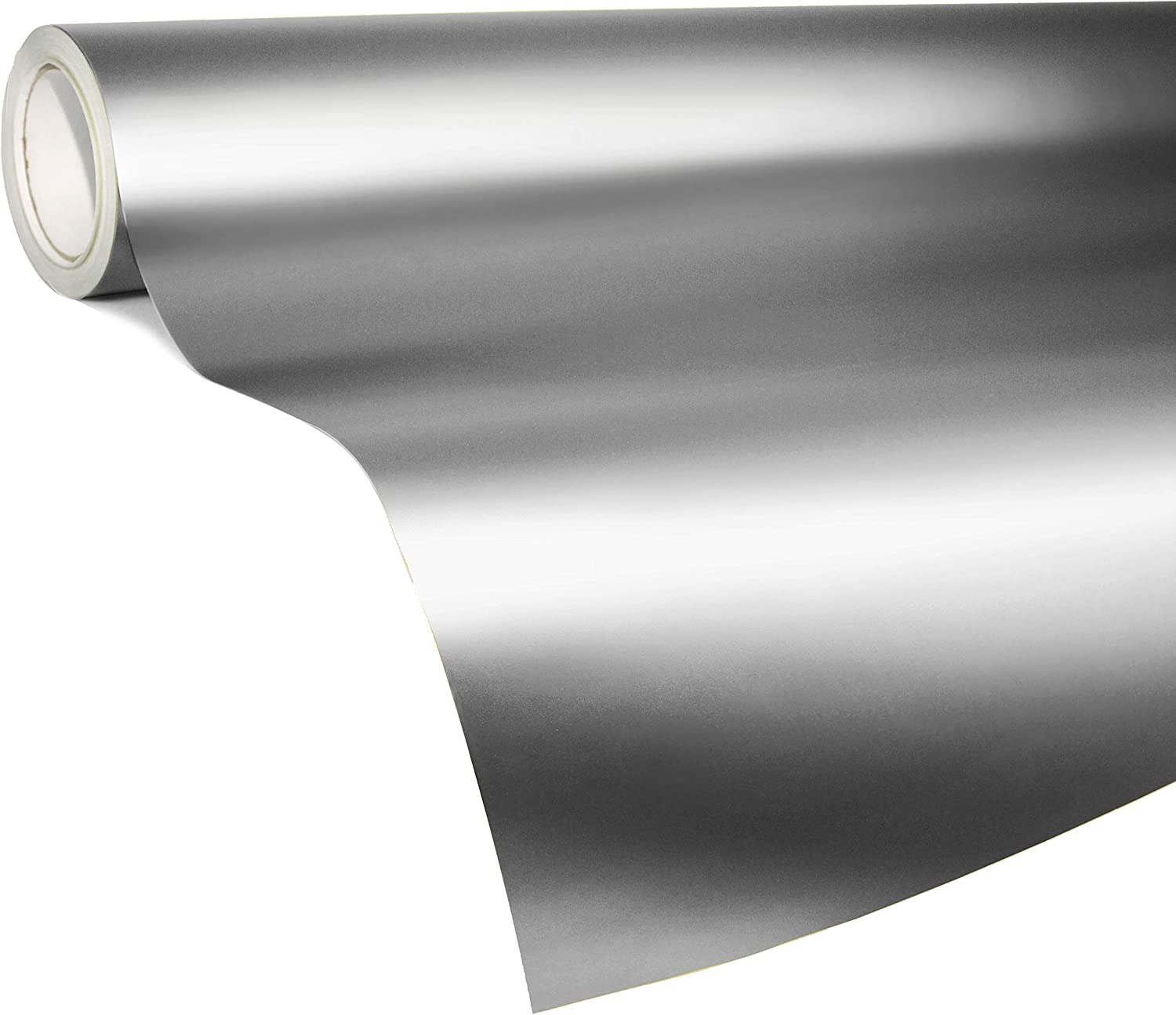 VViViD Architectural Stainless Steel Satin Finish Chrome Color Film 36 x 60