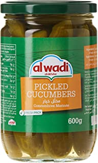 AL Wadi Pickle Cucumbers in Jars Drained Weight 420 gm Net Weight 600 gm (Pack of 1)