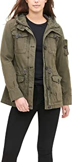 Women's Cotton Four Pocket Hooded Field Jacket