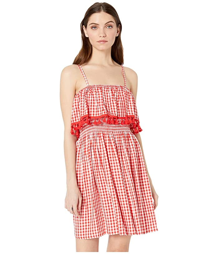 Jack by BB Dakota Hayride Gingham Dress (Poppy Red) Women