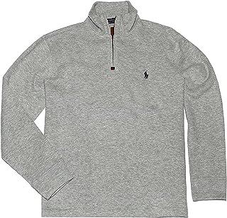 1be9fce05 Polo Ralph Lauren Men s French Rib Knit Half Zip Pullover Sweater (Heather  Grey